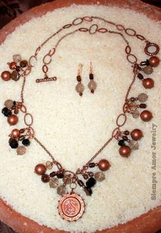Siempre Amor Jewelry Design Copper medallion necklace