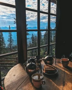 Now THIS is our kind of Check out the up to the Agnes House for an off the grid with beautiful Tasting Table, Tasting Room, Lake Agnes Tea House, Ceramic Workshop, Tea Companies, Tea Ceremony, Oh The Places You'll Go, Beautiful Places, Around The Worlds