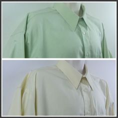 Lot of 2 Roberto Villini Mens Non Iron Travel Collection Dress Shirts 18 34 35 #RobertoVillini