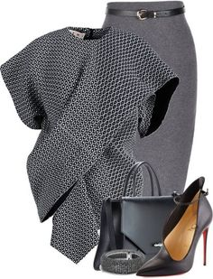 Marni & Louboutin Work Attire III A fashion look from February 2016 featuring Marni blouses, Christian Louboutin pumps and Givenchy tote bags. Browse and shop related looks. Classy Outfits, Chic Outfits, Fashion Outfits, Womens Fashion, Fashion Tips, Petite Fashion, Curvy Fashion, Fashion Ideas, Fashion Design