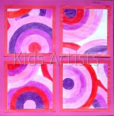 Kids Artists: Turning around with circles, in the style of Sonia Delaunay