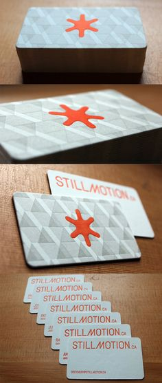 This striking business card design works particularly well because of the way in which it has been printed.