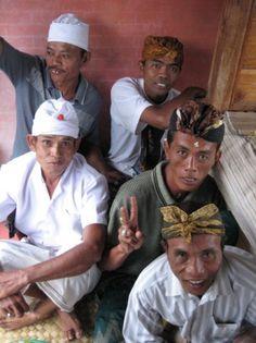 Men in Bali.