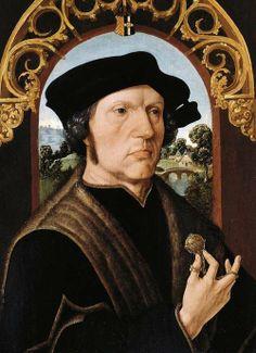 .:. Portrait of a Man by Jacob Cornelisz Van Oostsanen, 1518