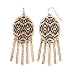 GS by gemma simone Tribal Beat Collection Sequoia Chevron Drop Earrings #Kohls