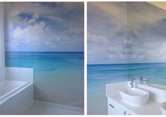 simple beach mural - not too much to it, but skillfully executed // surround yourself at www.herrsuite.com