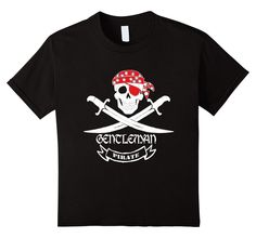 Gentleman Pirate T-Shirt by Teelie Turner www.teeliesfairygarden.com -Clothing by Teelie Turner-our original series of Pirate T-shirts-perfect for the Gentleman Pirate. Available in assorted sizes and colors. Aye Matey #piratetshirts