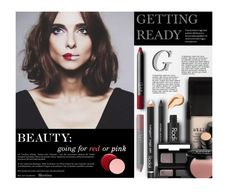 """""""Red or Pink?"""" by thewondersoffashion ❤ liked on Polyvore featuring beauty, Stila, Rodial, NARS Cosmetics, Beauty Is Life, NYX, Bobbi Brown Cosmetics, Oribe, Deborah Lippmann and BeautyTrend"""