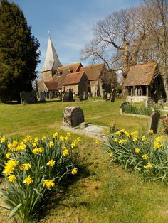 The beautiful church of All Saints in the village of Beckley in East Sussex, England. Built in 1100. Beckley was the place where the first Granny Smith Apple was grown. By B Lowe