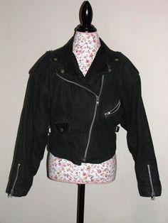 Vintage EAST WEST Heavy Black Denim and Genuine Leather by ditbge, $62.00