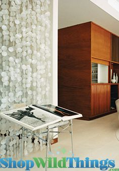 Shell Curtains and Decor