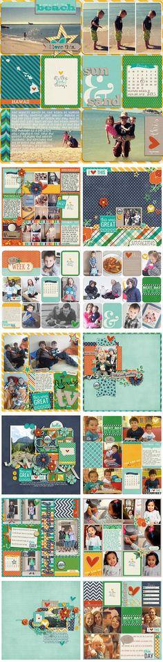 Everyday Life Creative Team Digital Scrapbook Layouts