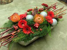 Rode tinten, baliestuk, kerstmis gemaakt door Sonja Derwael