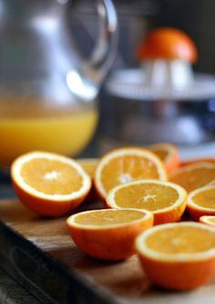 orange juice (with lots of pulp!)