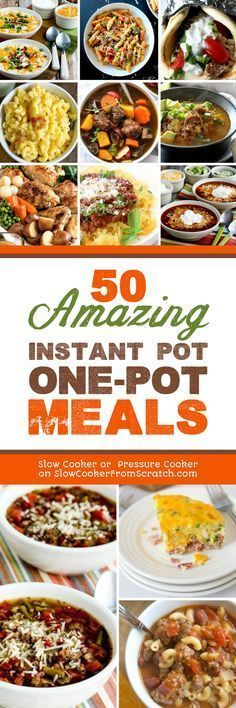 Doesnt everyone love a tasty dinner thats all made in one pot and here are 50 Amazing Instant Pot OnePot Meals Hope this will make your dinner prep a little easier found. Cooker Recipes, Crockpot Recipes, New Recipes, Best Instant Pot Recipe, Instant Pot Dinner Recipes, Crock Pot Slow Cooker, Crock Pot Cooking, Pressure Cooking Recipes, Casserole Recipes