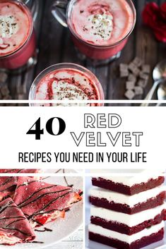 Red Velvet Dreams Come True Red velvet cake is a decadent dessert enjoyed year round. Check out these 40 red velvet recipes for scrumptious spins on this classic dessert! Classic Desserts, Easy Desserts, Delicious Desserts, Yummy Food, Healthy Food, Italian Desserts, Holiday Desserts, Red Velvet Whoopie Pies, Red Velvet Cake Mix