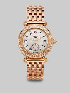 rose gold michele watch