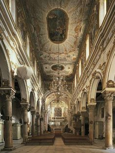size: Photographic Print: Nave of Cathedral of Matera : Baroque Architecture, Beautiful Architecture, Old Money, Princess Aesthetic, Travel Aesthetic, Paris, Light In The Dark, Aesthetic Wallpapers, Beautiful Places