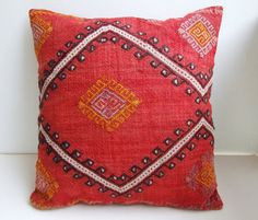 Anatolian  Turkish Rug Pillow Cover  kilim by mothersatelier
