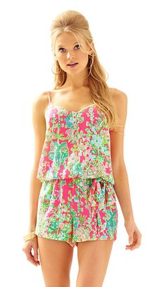 Nothing screams beach attire quite like a romper. The Lilly Pulitzer Deanna Tank…
