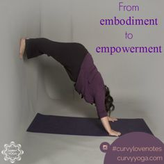 Want a little inspiration in your life today? Here's today's love note called Empower. Get more at www.curvyyoga.com/lovenotes/. #CurvyLoveNotes Get Moving, Love Notes, How To Run Longer, Namaste, Self Love, Feel Good, Curvy, Positivity, Peace