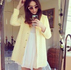 Liv Purvis, yellow, spring, dress
