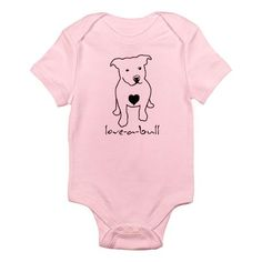 Infant Bodysuit. Whether I have a boy or a girl they will have a pitbull onesie for sure!