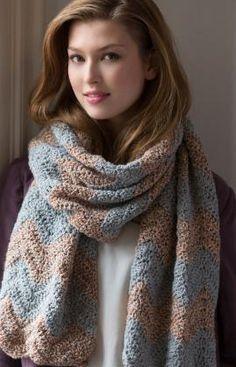 Modern Ripple Wrap Crochet Pattern, FREE pattern, nice, thanks so xox NB: UK terms