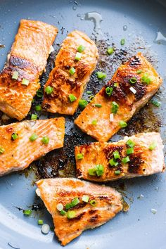 Honey Garlic Salmon Recipe quickly marinated in honey, lemon and garlic marinade, then pan fried until crispy on the outside and juicy inside. Read tasty rave reviews yourself.