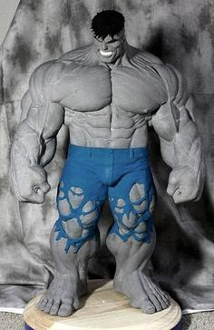 Dale Keown Hulk Statue by ~sup3rs3d3d