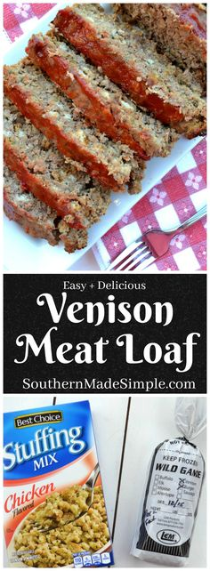 This meat loaf is THE meat loaf that converted me into a meat loaf fan. It's SO … This meat loaf is THE meat loaf that converted me into a meat loaf fan. It's SO delicious and easy to make! You can use ground venison or ground beef in this recipe. Elk Recipes, Wild Game Recipes, Cooking Recipes, Cooking Games, Recipes With Deer Meat, Cooking Classes, Deer Steak Recipes, Smoker Recipes, Grilling Recipes