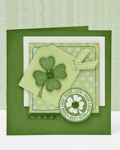 A link to fabulous St. Patrick's Day card ideas from #CTMH.