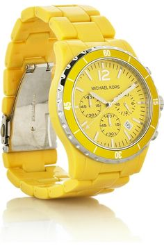 yellow michael kors watch: i need this. by angelique