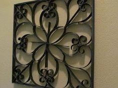Quadros Vazados com papelão imitando metal ~ passo a passo -Recicle sua Casa