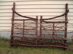 Betsy Rockwell Hand Crafted Gate For Moosehead Rustic Art