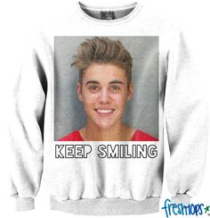 Keep Smiling Crewneck Limited edition - Fresh-tops.com