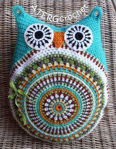 Crochet pattern owl cushion by ATERGcrochet by ATERGcrochet