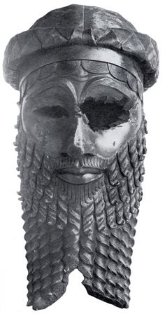 Bronze head of a king, most likely Sargon of Akkad but possibly Naram-Sin. Unearthed in Nineveh (now in Iraq), Akkadian period, c. 2300 BC. In the Iraqi Museum, Baghdad.