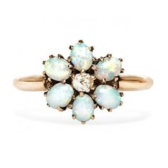 Love this pretty Victorian opal ring