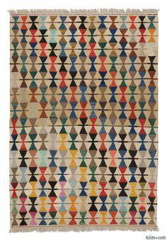 K0007978 New Turkish Kilim Rug | Kilim Rugs, Overdyed Vintage Rugs, Hand-made Turkish Rugs, Patchwork Carpets by Kilim.com