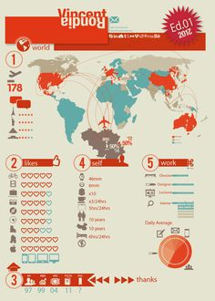Resume Infographic by vincent rondia, via Behance