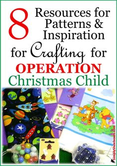 Crafting for Operation Christmas Child  shoeboxes is a rewarding endeavor.  We can enjoy our hobbies of knitting, crocheting, sewing an...
