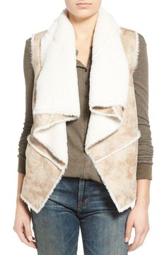 Coffee Shop Faux Shearling Vest