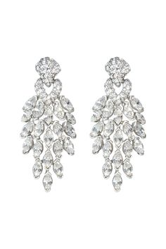 Rent Crystal Peacock Earrings by Ben-Amun for $40 only at Rent the Runway.