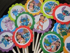 Lilo & Stitch Birthday Party Cupcake Toppers by Lilmisscupcake2