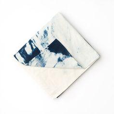 Shibori lightweight flannel blanket