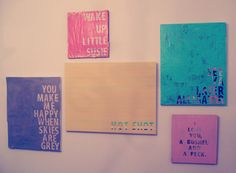 Quotes on canvas
