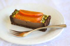 Decadent Vegan Persimmon Chocolate Tart