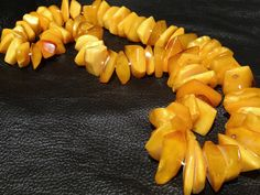 Amber Necklace 227.6 Grams,  30 inches Long, Baltic Butterscotch Yellow Statement Necklace by ElegantArtifacts on Etsy