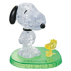 Bepuzzled -3D Crystal Puzzle - Snoopy with Woodstock: 41 Pcs